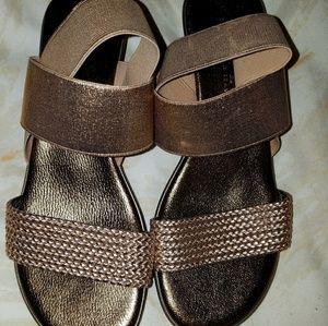 Anyi Lu mini wedge wrap sandals